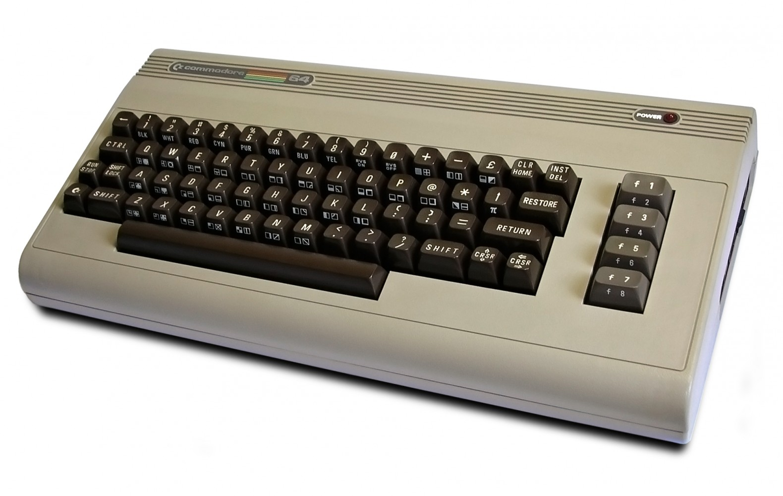 Commodore 64 photo courtesy Bill Bertram, Wikimedia.