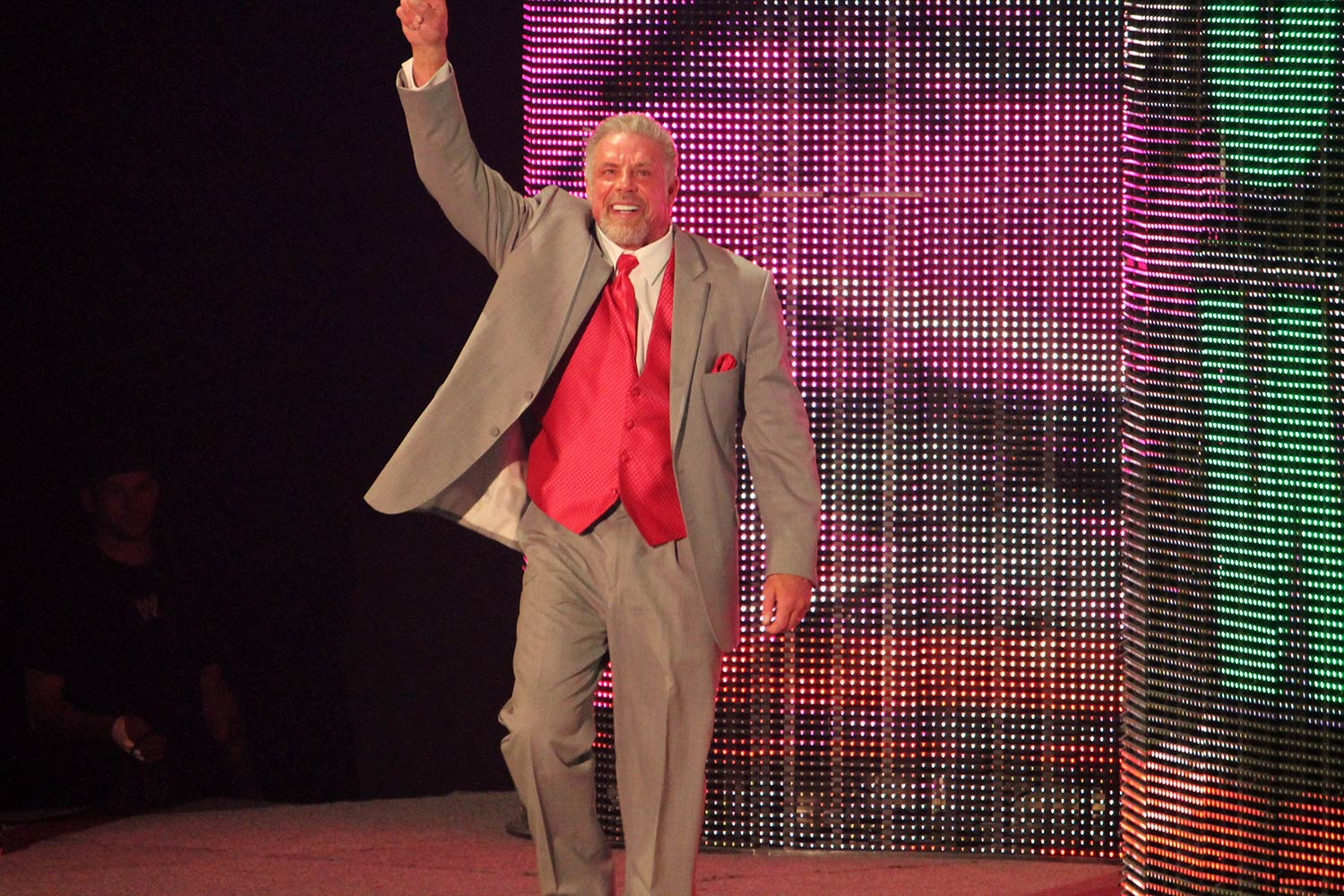 The Ultimate Warrior is inducted to the WWE Hall of Fame, April 7, 2014