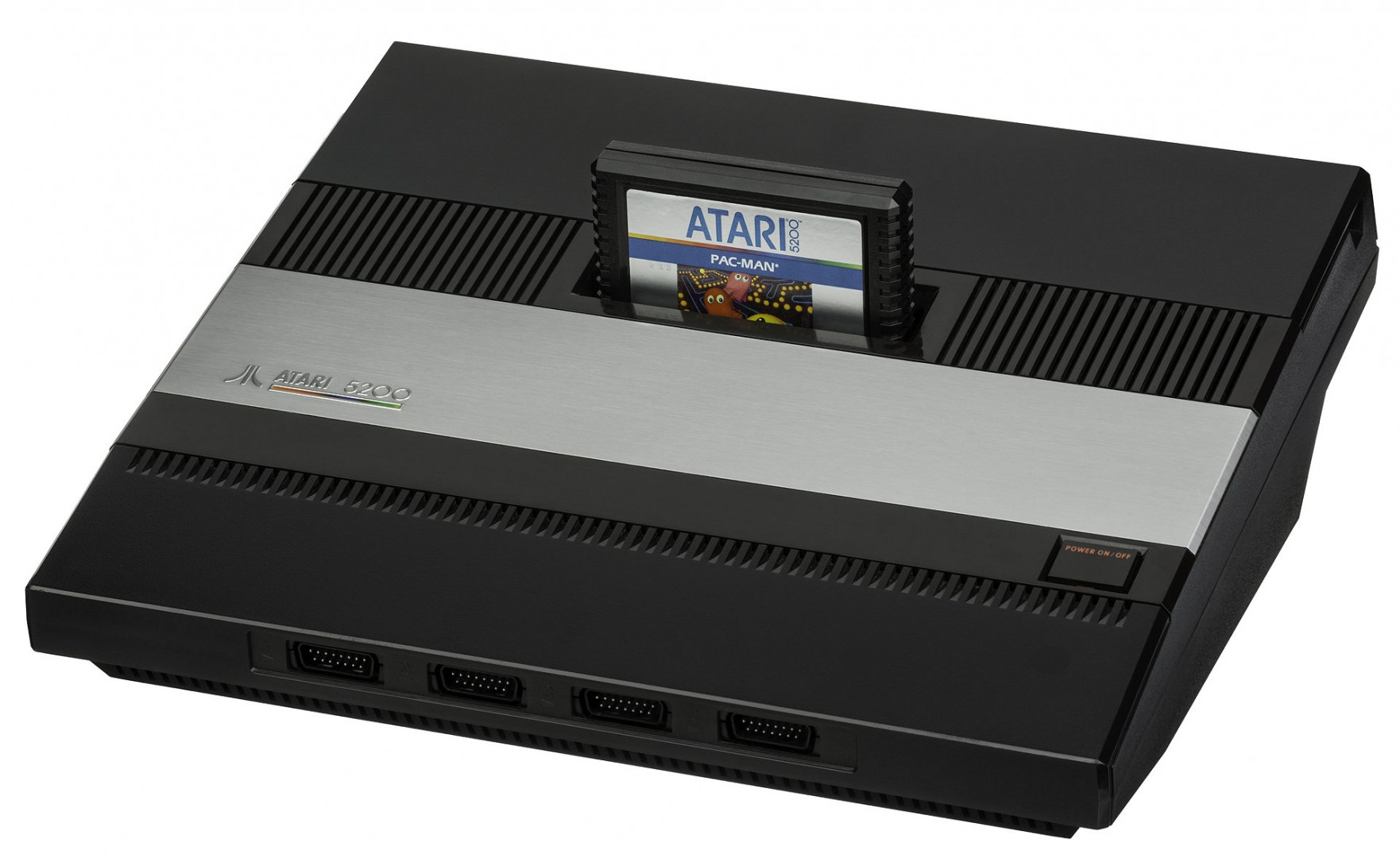 Atari 5200 with Pac-Man cartridge. Public domain image by Evan Amos.